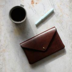 Rural Kind | Envelope Pouch | Dark Brown Oak Bark Tanned Leather