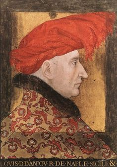 Людовик II Анжуйский фр. Louis II d'Anjou Людовик II Анжуйский (Акварельная миниатюра XV века) Portrait, Painting, Royals, Queens, Portraits, Historia, Art, Headshot Photography, Painting Art