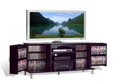 Features clean lines and sleek brushed metal legs and handles, along with enough storage space;This console can hold flat-panel plasma and LCD TVs up to 100 pounds;This console is constructed from CARB-compliant, laminated material.;Sliding rear panels provide access to cables and... more details available at https://furniture.bestselleroutlets.com/game-recreation-room-furniture/tv-media-furniture/media-storage/product-review-for-broadway-black-large-flat-screen-plasma-or-lcd