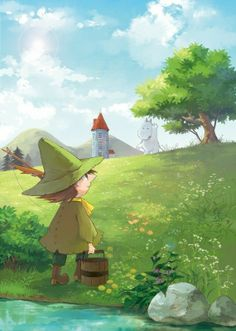 Snufkin and Moomin Moomin Wallpaper, Les Moomins, Moomin Valley, Tove Jansson, Illustrations And Posters, Children's Book Illustration, Mobile Wallpaper, Fairy Tales, Character Design