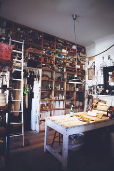 photography by luisa brimble. sibella court's the society inc shop. shelves all the way to the ceiling
