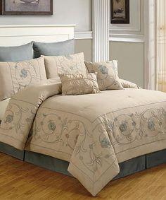 Look at this #zulilyfind! Taupe Randall Comforter Set #zulilyfinds
