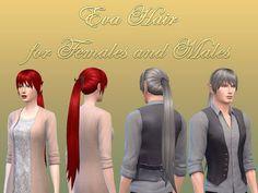 My Sims 4 Blog: NotEgain Eva Hair for Males & Females