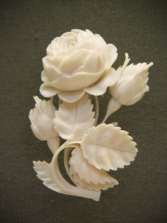 Carved ivory bouquets, German, Erbach-im-Odenwald, mid-19c | Flickr - Photo Sharing!