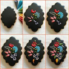 Lacey And Colorful Embroidery Cookies Are A Delicate And Delicious Treat
