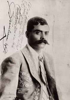 Emiliano Zapata in a portrait by Guillermo Kahlo retained by Frida