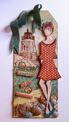 My Creative Spirit mixed media doll stamp - Prima