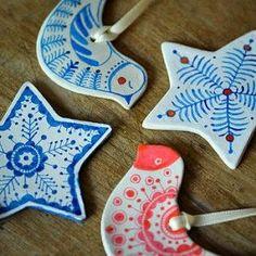 Handmade clay Christmas decorations | Cosy Home Blog