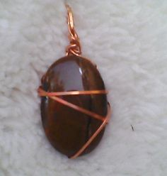 Copper Wire Wrapped Tiger's Eye Pendant by SpeakingofWitchWands, $14.99 US / UK £9.25