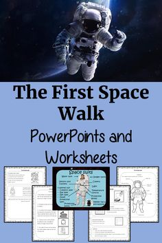 The anniversary of the First Spacewalk is the 18th of March! These resources include a complete lesson on the First Spacewalk. There is a detailed 41 slide presentation on the details of the walk and surviving in space. There are also differentiated, 4 page, spacewalk, Google Slides, worksheets to allow children to demonstrate understanding of the first spacewalk. #teaching #space #googleclassroom Science Resources, Teaching Activities, Science Lessons, Lessons For Kids, Learning Resources, Teacher Resources, Classroom Resources, Teaching Ideas, Classroom Ideas