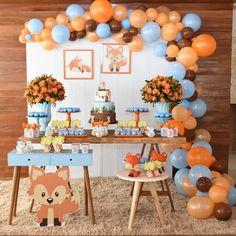 Idee Baby Shower, Boy Baby Shower Themes, Baby Shower Balloons, Baby Shower Parties, Baby Boy Shower, Spongebob Birthday Party, Baby Boy 1st Birthday Party, Baby Party, Birthday Party Decorations