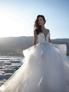 The new Pnina Tornai wedding dresses have arrived! Take a look at what the latest Pnina Tornai bridal collection has in store for newly engaged brides. Pnina Tornai Dresses, Pnina Wedding Dresses, Cheap Wedding Dress, Bridal Dresses, Gown Wedding, Lace Wedding, Dream Wedding, Sincerity Bridal, Ball Dresses