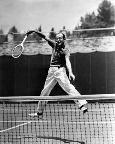 Fred Astaire Playing Tennis in Polo Shirt and White Slacks Premium Art Print Hollywood Actor, Golden Age Of Hollywood, Classic Hollywood, Old Hollywood, Fred Astaire, Tennis Photography, Vintage Photography, White Slacks, Mikhail Baryshnikov