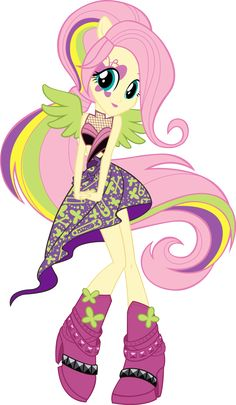 Equestria Girls Rainbow Rocks Fluttershy Vector by icantunloveyou on DeviantART