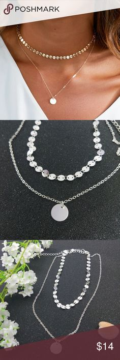 Coin Dainty Feminine Necklace •Pair this piece with any other item and use the offer button to deduct $5 off your bundle• (price is firm unless bundled) (silver plated) Jewelry Necklaces