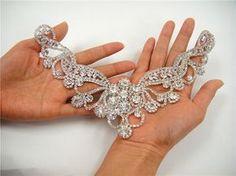 Wedding Rhinestone applique Sweet heart rhinestone by LaceNTrim