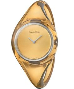 OROLOI.gr - ΓΥΝΑΙΚΕΙΑ ΡΟΛΟΓΙΑ Calvin KLEIN - Calvin KLEIN Pure Translucent Plastic Bangle Bracelet
