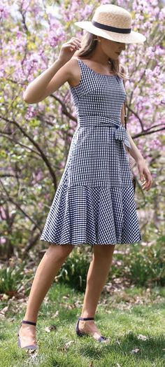 Womans clothes buy blazer for ladies,where to shop for hipster clothes boho attire for female,city chic blue dress fashion street summer Women's Fashion Dresses, Dress Outfits, Casual Dresses, Flapper, Gingham Dress, Spring Dresses, Dress Summer, Summer Outfits, Pretty Dresses