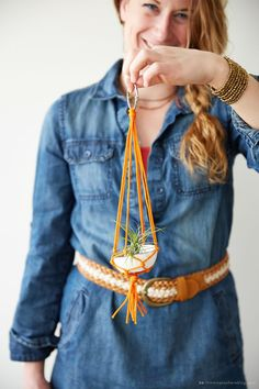 DIY Mini Macrame Hanger | thinkmakeshareblog.com