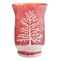Frosted Tree Hurricane - Red.  I love this!!