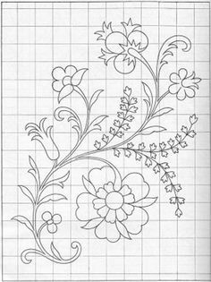 ojibwe floral beadwork patterns - Google Search                                                                                                                                                                                 Más