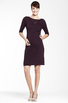 Robe grossesse noire manches 3/4 by Crave Maternity