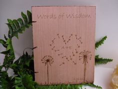 Rustic Chic Wedding Large  Guest Book or Words of by WildFireFlies, $45.00