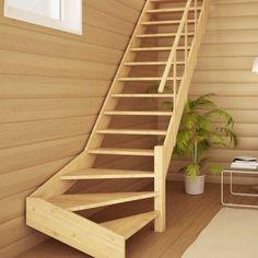 Деревянная лестница «ФАВОРИТ ЛМП-12» левозаходная