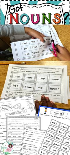 This Nouns packet is loaded with 18 worksheets, a Literacy Center, and editable template! Sheets include cut and paste, multiple choice, coloring, and fill in the blanks. Use it to spiral content all year! Unused resources can go in your Substitute Binder! Click to see this and other affordable Language Arts resources.