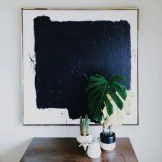 Black abstract art