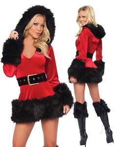 Black Santa dress!  Buy it :  www.dluxery.com