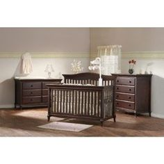 Mantova Two Piece Forever Convertible Crib Set in Chocolate --- http://bizz.mx/j4k