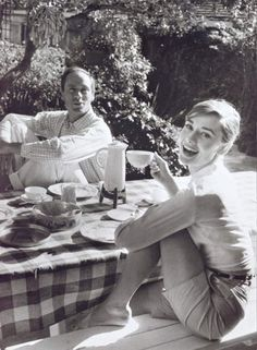 audrey hepburn style icon - in shorts and that classy button up
