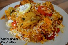 Sindhi biryani is ready. and unlike other biryani recipes, in this biryani we don't cook tomatoes.