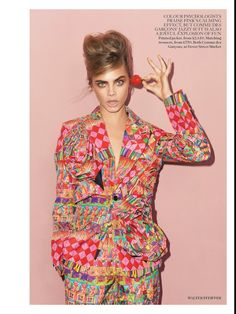 CARA DELEVINGNE EDITORIAL PINK LADY VOGUE UK Vogue UK  Photographer Walter Pfeiffer Styled by Francesca Burns PINK FALL WINTER TREND SIXTIES...