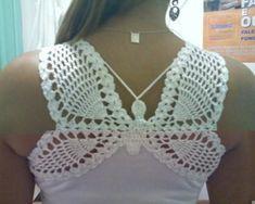 Butterfly crochet shirt