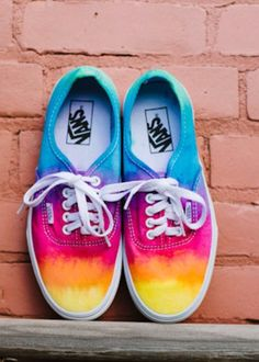 Diy rainbow ombre vans, these look like a sunset:) love