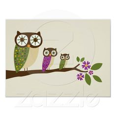 Owl canvas poster
