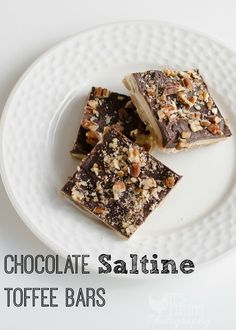 A buttery, salty, chocolate-ly bar, perfect for your game-day celebrations! And easy to make!