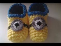Zapatillas minion crochet (ganchillo) #tutorial DIY - YouTube