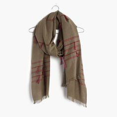 Madewell Striped Tassel Scarf