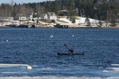 That's dedication!  Feb. 24th, ice in water!   Mahone Bay