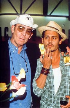 Hunter S. Thompson and Johnny Depp - I got to see HST speak a couple of times - he had nothing prepared but just took questions (and intoxicants) from the audience. His writing was brilliant and worth checking out if you're not familiar. I need to get him out again.