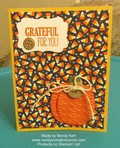 Punch Art Pumpkin Card www.nendyscreativecorner.com