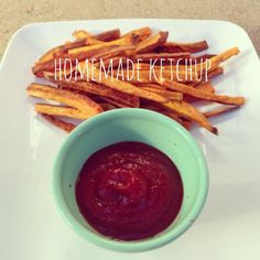 So good. Homemade ketchup. No vinegar/ corn syrup/ sugar. I replaced the maple syrup with agave. A little too sweet. Would use less next time.