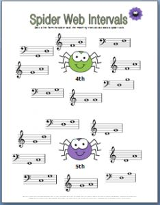 Helps kids practice identifying 4th and 5th intervals.