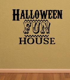 Halloween Fun House. Halloween Custom Vinyl Wall Decal. $12.00, via Etsy.