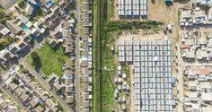 Des photographies aériennes pour illustrer la frontière entre riches et pauvres #culturepub