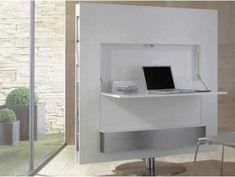 work desk with white elegant TV Stand