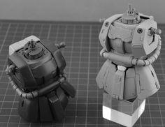 SIDE3 MG 1/100 ザクII レジンキット改造パーツ - INASK
